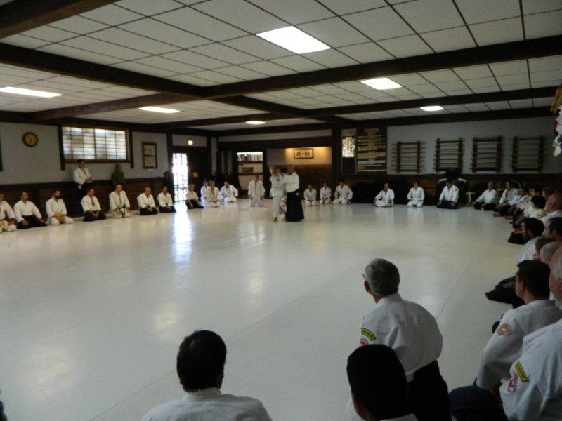 Yasuo Kobayashi Soshihan takes ukemi from a beginner's throw. This teaching style is a good model for all instructors.