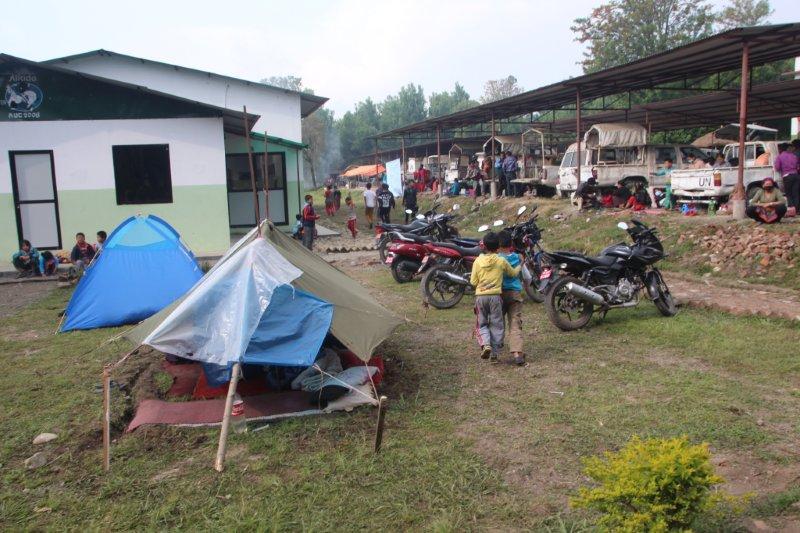 Too many refugees to house, hundreds take refuge on the ANTC grounds